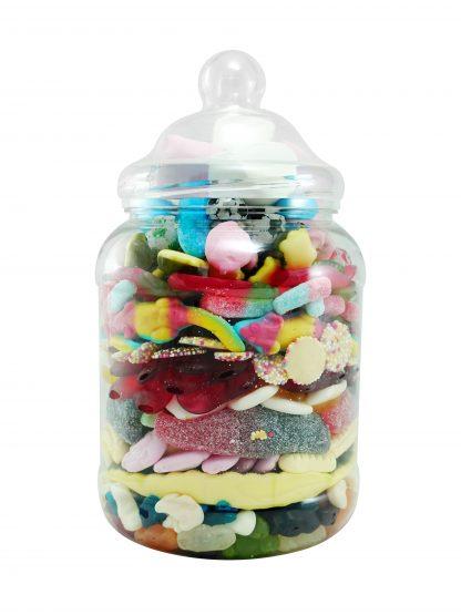 Pick and mix sweet jar back shot