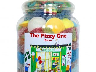 A large sweet jar filled with the ultimate in fizzy sweets - the perfect gift for a fizzy and sour sweet lover