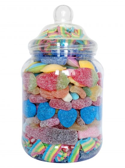 Large jar filled with the best in Fizzy Sweets