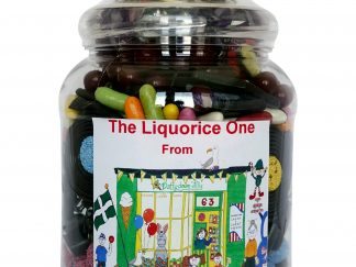 Large jar of assorted quality liquorice