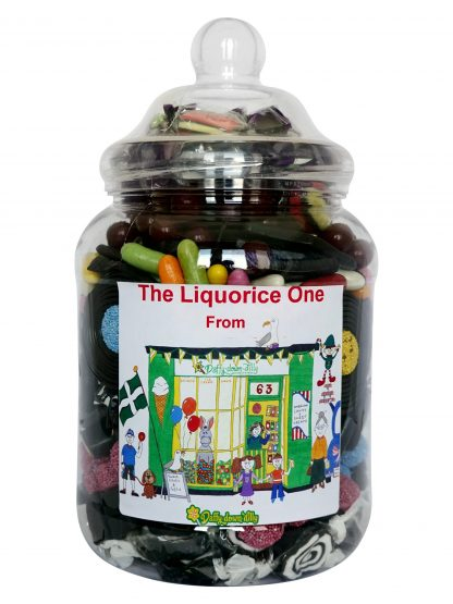 Large jar of assorted quality liquorice