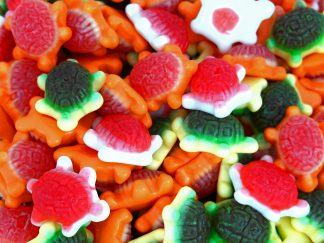 Jelly filled Turtle sweets