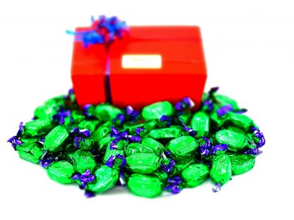 Gift box of chocolate peppermint creams