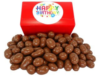 Milk chocolate Brazils in a Birthday gift box