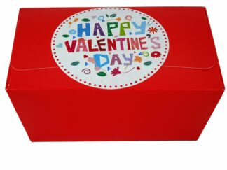 Valentine's Day gift box with flowers