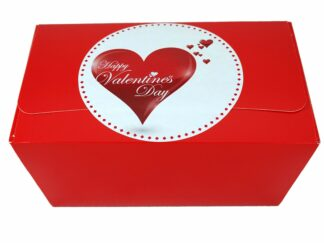 Valentine's Day gift box with hearts