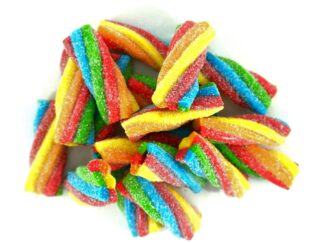 Rainbow sour twists sweets