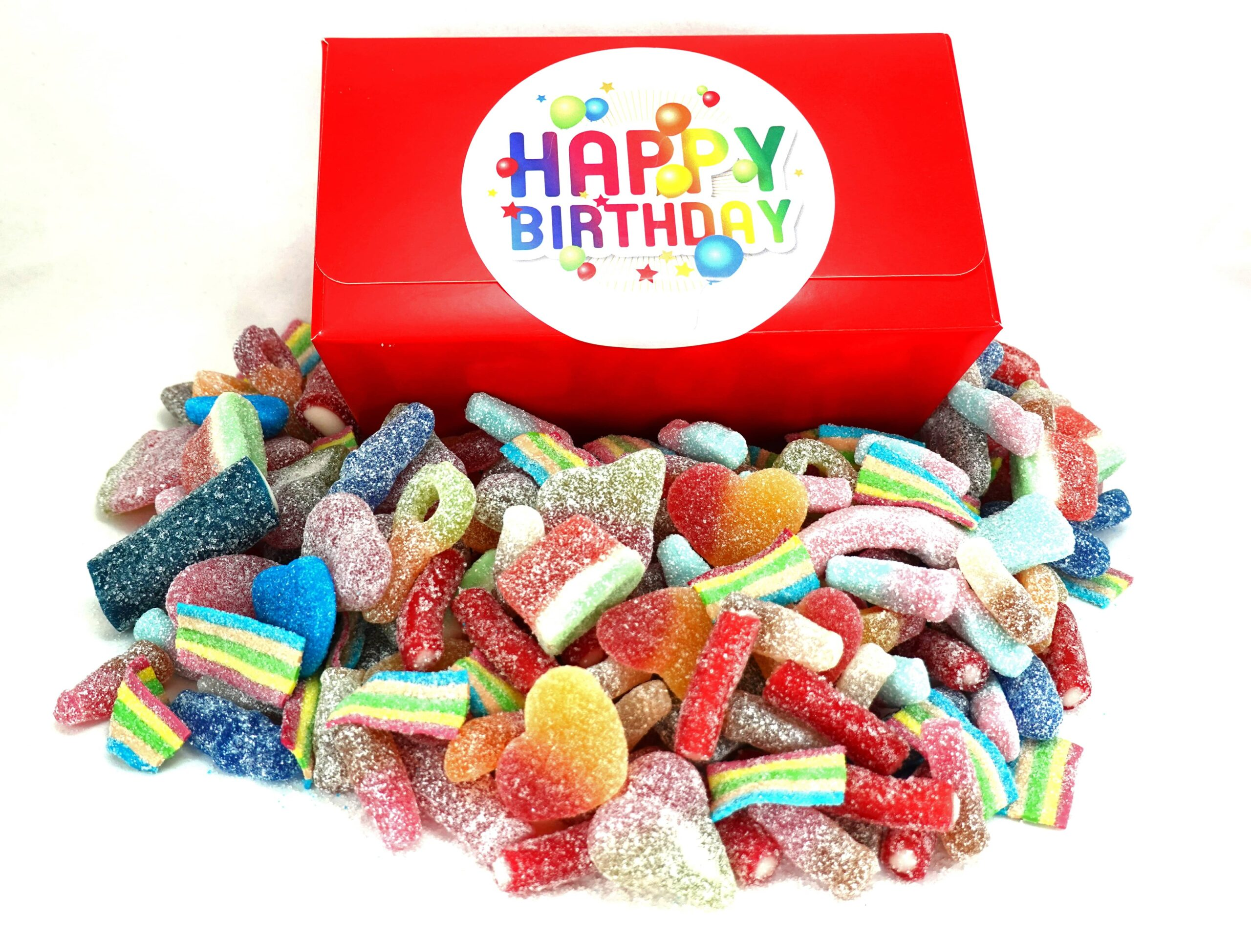 Birthday fizzy sweets gift box