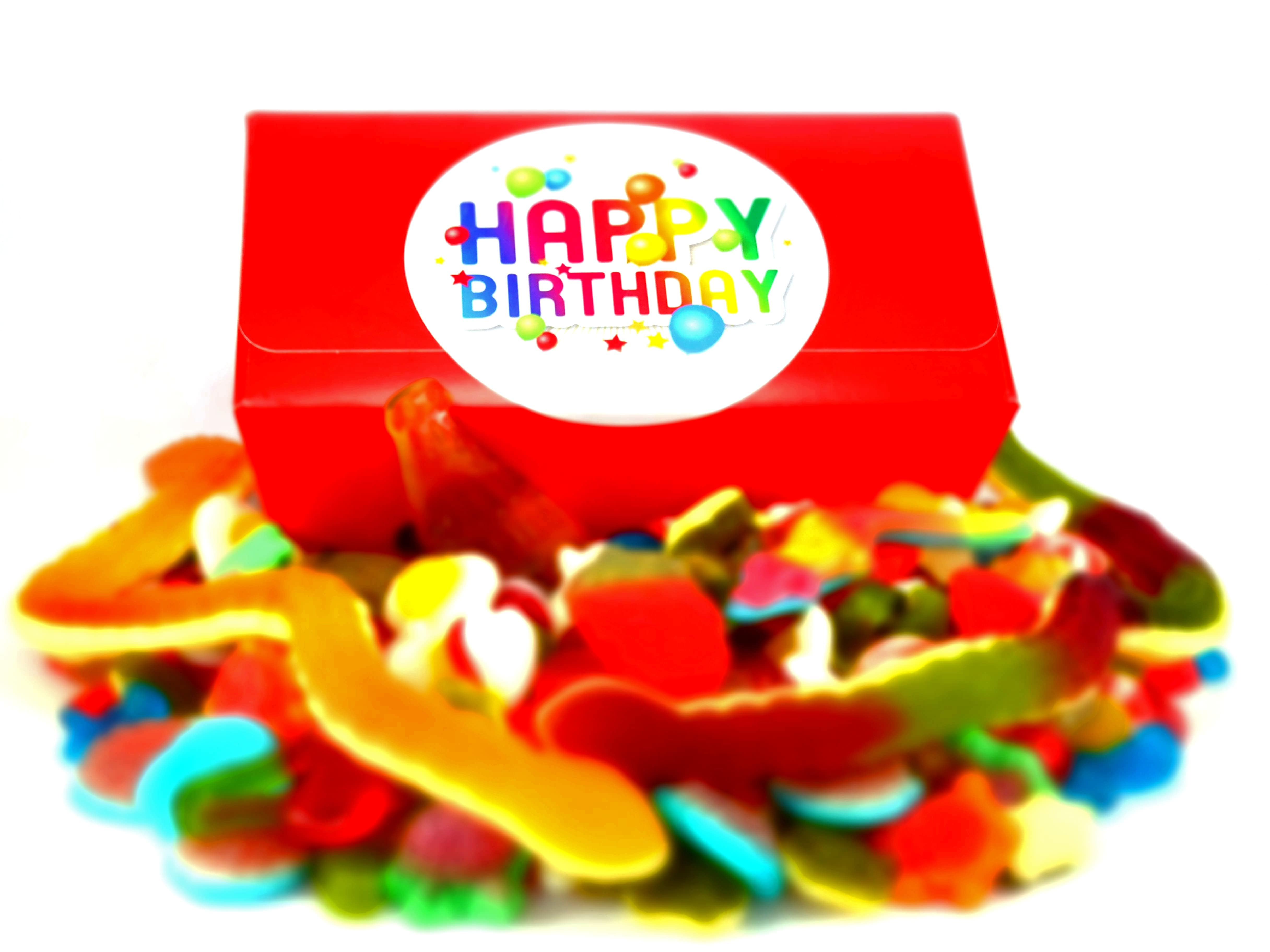 1 kilo of jelly sweets in a Birthday gift box