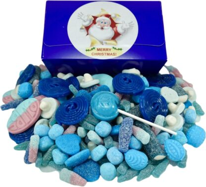 Christmas blue sweet gift box