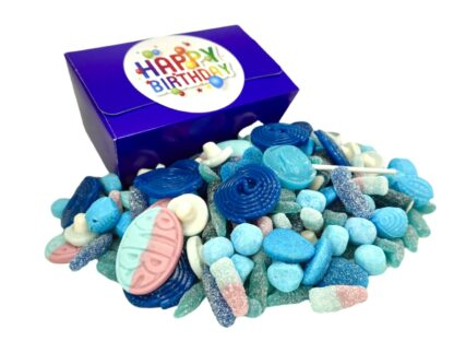Happy Birthday 1 kilo box of Blue sweets