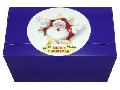 Merry Christmas gift box label