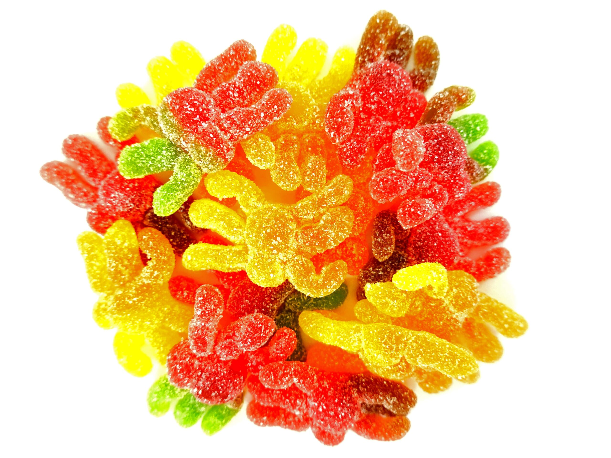 Spider shaped fizzy sweets